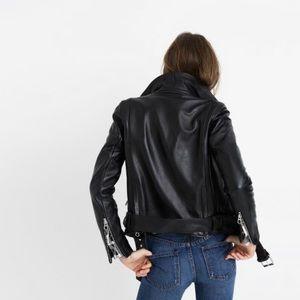 Madewell Leather Biker Jacket - size M